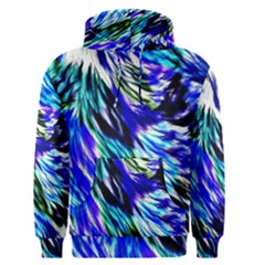 Abstract Background Blue White Men s Pullover Hoodie