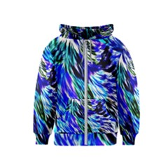 Abstract Background Blue White Kids  Zipper Hoodie