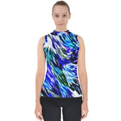Abstract Background Blue White Shell Top