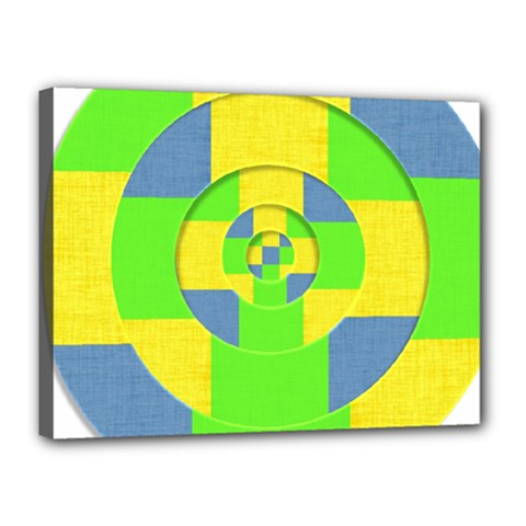 Fabric 3d Geometric Circles Lime Canvas 16  X 12