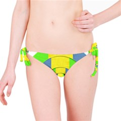 Fabric 3d Geometric Circles Lime Bikini Bottom