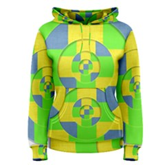 Fabric 3d Geometric Circles Lime Women s Pullover Hoodie