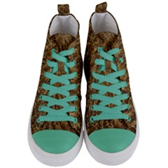 Water Mirror Background Pattern Women s Mid Top Canvas Sneakers