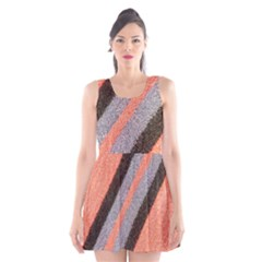 Fabric Textile Texture Surface Scoop Neck Skater Dress