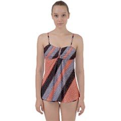 Fabric Textile Texture Surface Babydoll Tankini Set