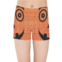 Fabric Halloween Pumpkin Funny Kids Sports Shorts