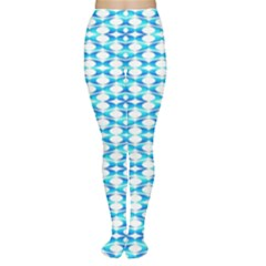 Fabric Geometric Aqua Crescents Women s Tights