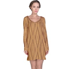 Wood Background Backdrop Plank Long Sleeve Nightdress