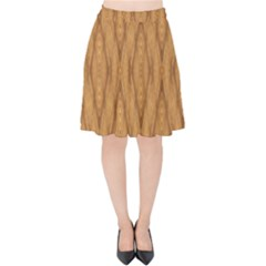 Wood Background Backdrop Plank Velvet High Waist Skirt