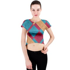 Fabric Textile Cloth Material Crew Neck Crop Top