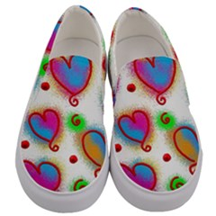 Love Hearts Shapes Doodle Art Men s Canvas Slip Ons