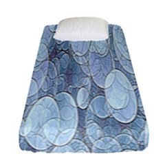 Bubbles Texture Blue Shades Fitted Sheet (single Size)