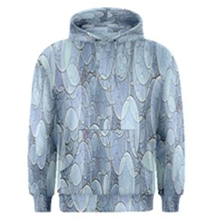 Bubbles Texture Blue Shades Men s Pullover Hoodie