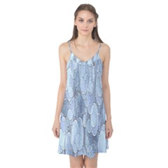 Bubbles Texture Blue Shades Camis Nightgown