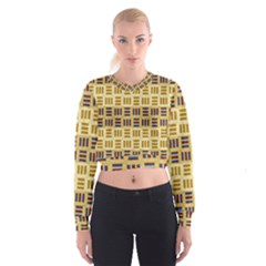 Textile Texture Fabric Material Cropped Sweatshirt