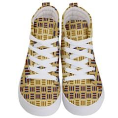 Textile Texture Fabric Material Kid s Hi Top Skate Sneakers