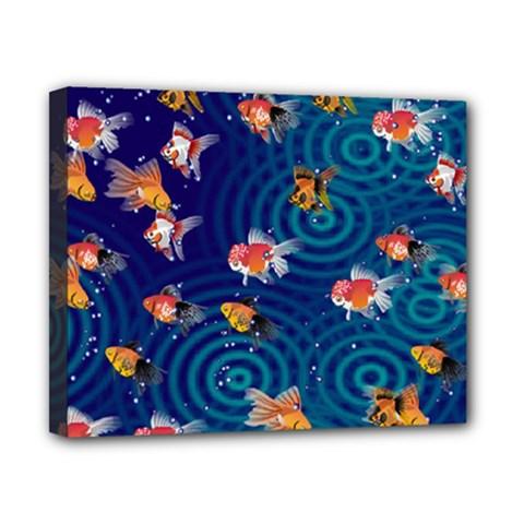Fish Swim In The Ocean Canvas 10  X 8
