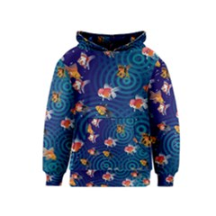 Fish Swim In The Ocean Kids  Pullover Hoodie