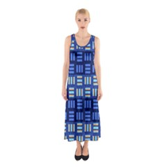 Textiles Texture Structure Grid Sleeveless Maxi Dress