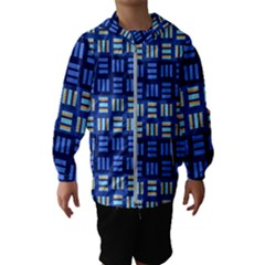 Textiles Texture Structure Grid Hooded Wind Breaker (kids)