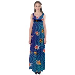 Fish Swim In The Ocean Empire Waist Maxi Dress