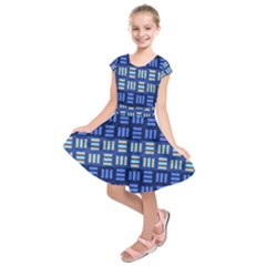 Textiles Texture Structure Grid Kids  Short Sleeve Dress