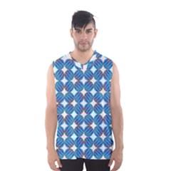 Geometric Dots Pattern Rainbow Men s Basketball Tank Top