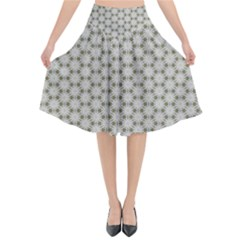 Background Website Pattern Soft Flared Midi Skirt