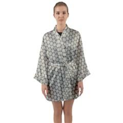 Background Website Pattern Soft Long Sleeve Kimono Robe