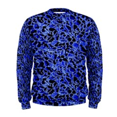 Texture Structure Electric Blue Men s Sweatshirt