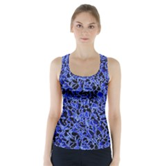 Texture Structure Electric Blue Racer Back Sports Top