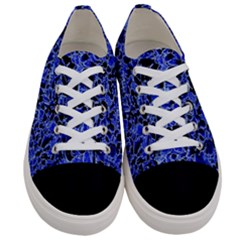 Texture Structure Electric Blue Women s Low Top Canvas Sneakers