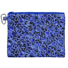 Texture Structure Electric Blue Canvas Cosmetic Bag (xxl)
