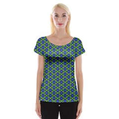 Texture Background Pattern Cap Sleeve Tops