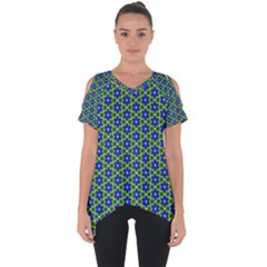 Texture Background Pattern Cut Out Side Drop Tee