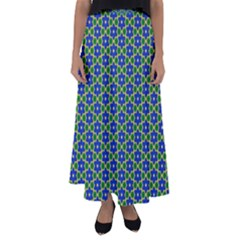 Texture Background Pattern Flared Maxi Skirt
