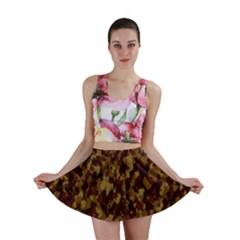 Camouflage Tarn Forest Texture Mini Skirt