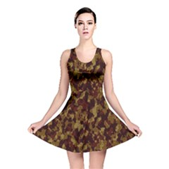 Camouflage Tarn Forest Texture Reversible Skater Dress