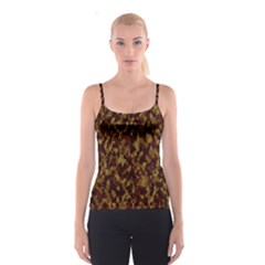 Camouflage Tarn Forest Texture Spaghetti Strap Top