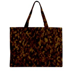 Camouflage Tarn Forest Texture Zipper Mini Tote Bag