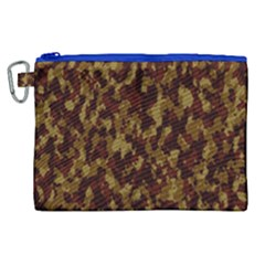Camouflage Tarn Forest Texture Canvas Cosmetic Bag (xl)