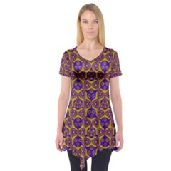 Sacred Geometry Hand Drawing 2 Short Sleeve Tunic