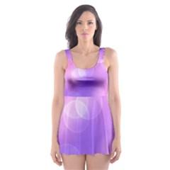 Soft Lights Bokeh 1 Skater Dress Swimsuit