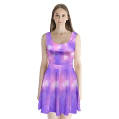 Soft Lights Bokeh 1 Split Back Mini Dress