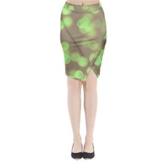 Soft Lights Bokeh 4c Midi Wrap Pencil Skirt