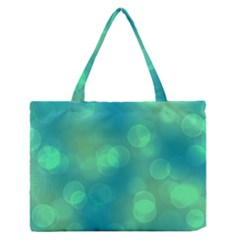 Soft Lights Bokeh 1b Zipper Medium Tote Bag