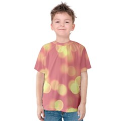 Soft Lights Bokeh 4b Kids  Cotton Tee