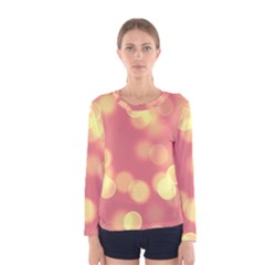 Soft Lights Bokeh 4b Women s Long Sleeve Tee