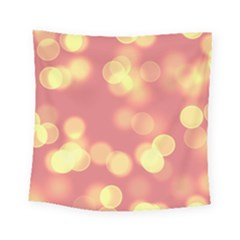 Soft Lights Bokeh 4b Square Tapestry (small)