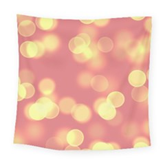 Soft Lights Bokeh 4b Square Tapestry (large)